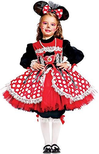 VENEZIANO Costume Carnevale da TOPINA Prestige Baby Vestito per Bambina Ragazza 1-6 Anni Travestimento Halloween Cosplay Festa Party 50558 5 Anni