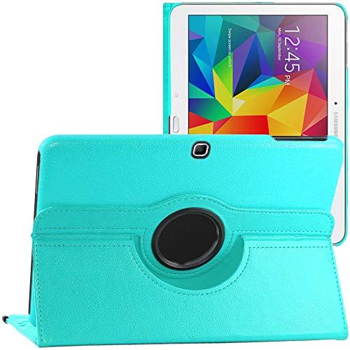 ebestStar - kompatibel mit Samsung Galaxy Tab 4 10.1 Hülle SM-T530, T533 T531 T535 Rotierend Schutzhülle Etui, Schutz Hülle Ständer, Rotating Case Cover Stand +Stift, Blau [Tab:243.4x176.4x8mm 10.1