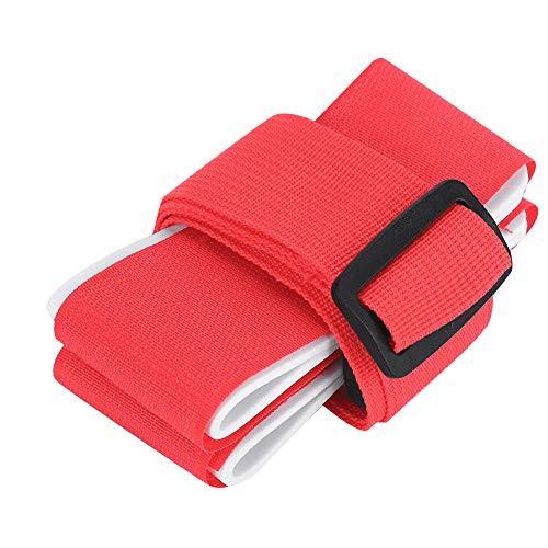 Keen so Support de Sangle pour Porte-épaules de Ski Snowboard, Sangle d'épaule réglable en Nylon avec Crochets de Mousqueton et rembourré (Rouge/Bleu)(Rouge)