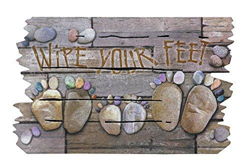 BSM 2000 - Türmatte 76 x 46 cm - Fußmatte - Türvorleger - Schmutzmatte - Schmutzfangmatte - 5 verschiedene Motiv, 95% recycelt, Feuchtigkeitsaufnahme, Schmutzaufnahme, Rutschfest ( Wipe Your Feet )