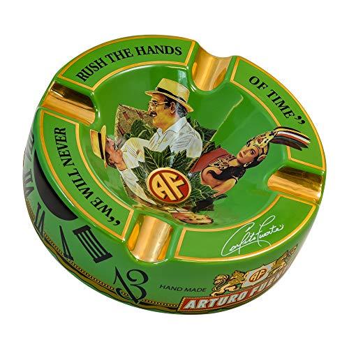 Limited Edition Large 8.75' Arturo Fuente Porcelain Cigar Ashtray Green