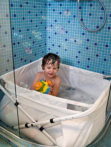 Bibabad - Bañera-asiento de baño, color blanco