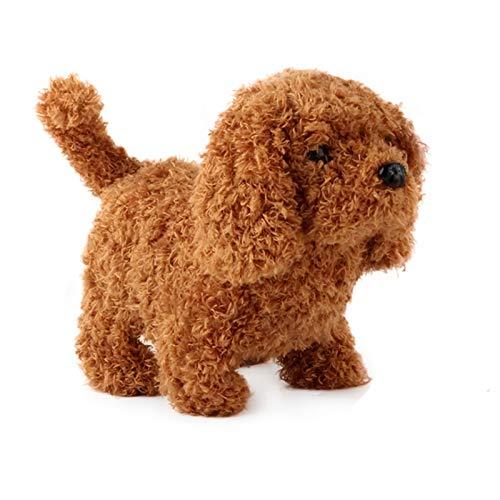 SXPC Peluche Realista Perro de simulación Inteligente Llamado Caminar Juguete de Felpa eléctrico Teddy Robot Perro Juguete para niños Cachorro de Felpa