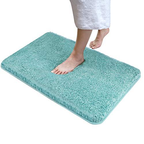 Alfombra de baño de felpa suave, absorbente de agua, alfombra de baño Shaggy de 81 x 50 cm, alfombra de baño antideslizante con microfibra esponjosa, lavable a máquina,...