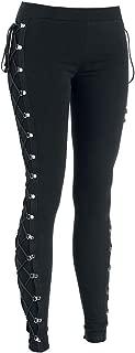 Women Lace-Up Workout-Bandage-Leggings Skinny-Pencil-Jeans - Elastic Bodycon Pants, Black