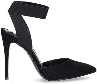 Steve Madden Women's SDIONBLACK Black Suede Heels