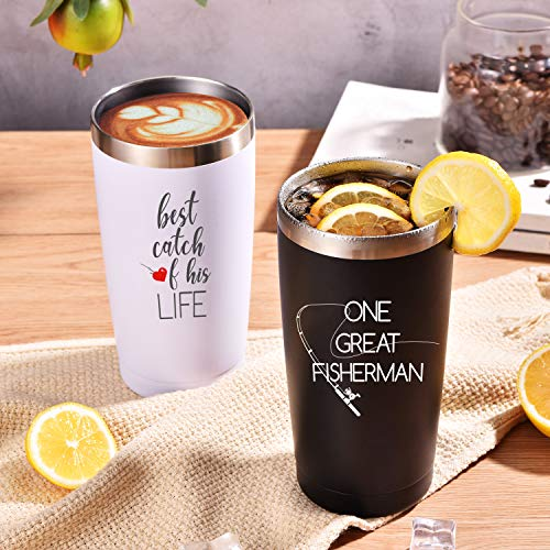 Wedding Anniversary Engagement Gifts for Couple 20 Ounce Mug Tumbler 2pcs Set with Straw and Lid Birthday Gifts for Women Best Friends Couple Gift