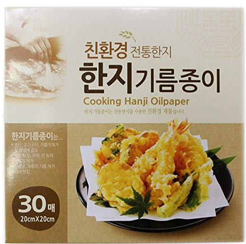 """(60 Sheet) Oil-Absorbing Cooking Square Paper Fried Food,Tempura,Potato, Fish, Beignet,Chicken,all frying oil food (Approx. 8.87""""x8.87"""")"""