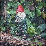 Mini Adorno de jardín Enano jardín del ejército Enano Miniatura Accesorios de Estatua de jardín de Navidad para decoración navideña de Interior al Aire Libre-TO_9 Cm.