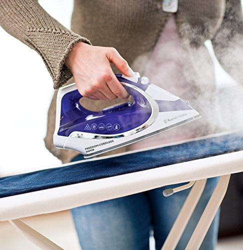 Russell Hobbs 23300 Freedom Cordless Iron, 2400 W, Purple/White, Porcelain