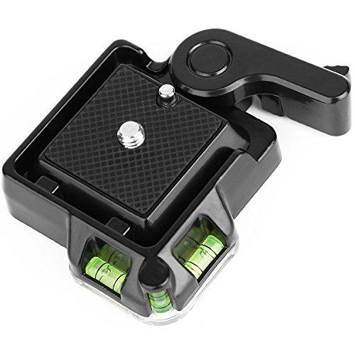 Koolehaoda Neue kompakte Schnellwechsel-Montageplattform Klemme  + Schnellwechselplatte für Einbeinstativ und Giottos MH630 Kamerahalterung MH7002 630 5011 (schwarz OR-40)