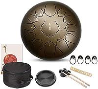 スチールタンドラム、 13インチのドラムマレットで12ノートスチール舌ドラム打楽器ハンドパンドラムキャリーバッグは、スティックヨガ、瞑想、音楽療法に注意してください。 ディッシュ形ドラム、ハンドドラム (Color : A)