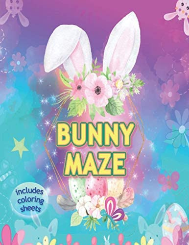 Bunny Maze Includes Coloring Sheets Rabbit Activity Puzzle for Teen Girls Women and Children product image