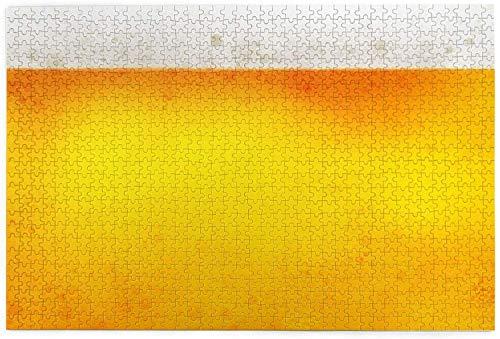 Rompecabezas personalizado de cerveza amarilla burbuja rompecabezas de madera regalo para la familia, boda, Navidad 1000 piezas - 19,7 * 31,5 pulgadas