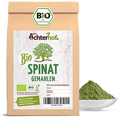 Spinatpulver BIO (250g) | Rohkostqualität | Ideal für einen Smoothie oder zum färben für Nudeln | Spinat Pulver vom Achterhof