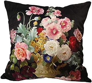 whooplaArt Elegant Decorative Velvet Floral Pillow Cover Double Sides Flower Pillowcases 16