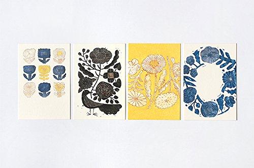 "Makoto Kagoshima ""ZUAN"" 図案ポストカードB in the morning 4種各1枚入"