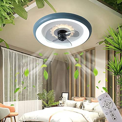 LED Ventilador de Techo con Lámpara Regulable 3000K ~ 6000K con Control Remoto, Lámpara de Techo con Ventilador, Fan Lamp Ultra Silenciosa, con Temporizador, Velocidad del Viento Ajustable, Ø50CM