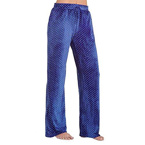 Karen Neuburger Womens Ultra Plush Lounge Pant Blue Dot XX-Large