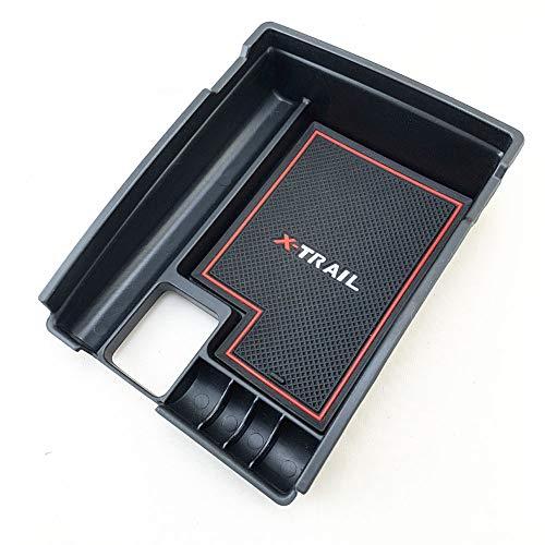 FairOnly di Alto Grado per Ni-ssan X-Trail Rogue 14-17 Car Box portaoggetti Car Center Console Vassoio Bracciolo Portaoggetti Organizer Linea Rossa co