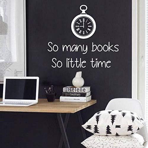 Art Home Decor So Molti Libri Cos & Igrave;Poco Tempo Adesivo Vinile Kamera Im Studio Biblioteca Decorazione Poster Murale 57 * 50Cm