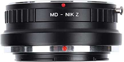 Akozon MD‑NIK Z Lens Adapter Ring for Minolta MD Mount Lenses to for Nikon Z Mount Camera