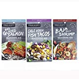 SEAFOOD SEASONING BUNDLE: Give the gift of sensational seafood! Main dishes have never been faster and easier with these three gourmet seafood spices and seasonings. BAJA STYLE SHRIMP: This chili lime seafood seasoning blend contains aromatic spices ...