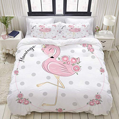 bedding Duvet Cover Set, cute little princess abstract background pink,Microfibre Duvet Cover Set 200 x 200cm with 2 Pillowcase 50 X 80cm
