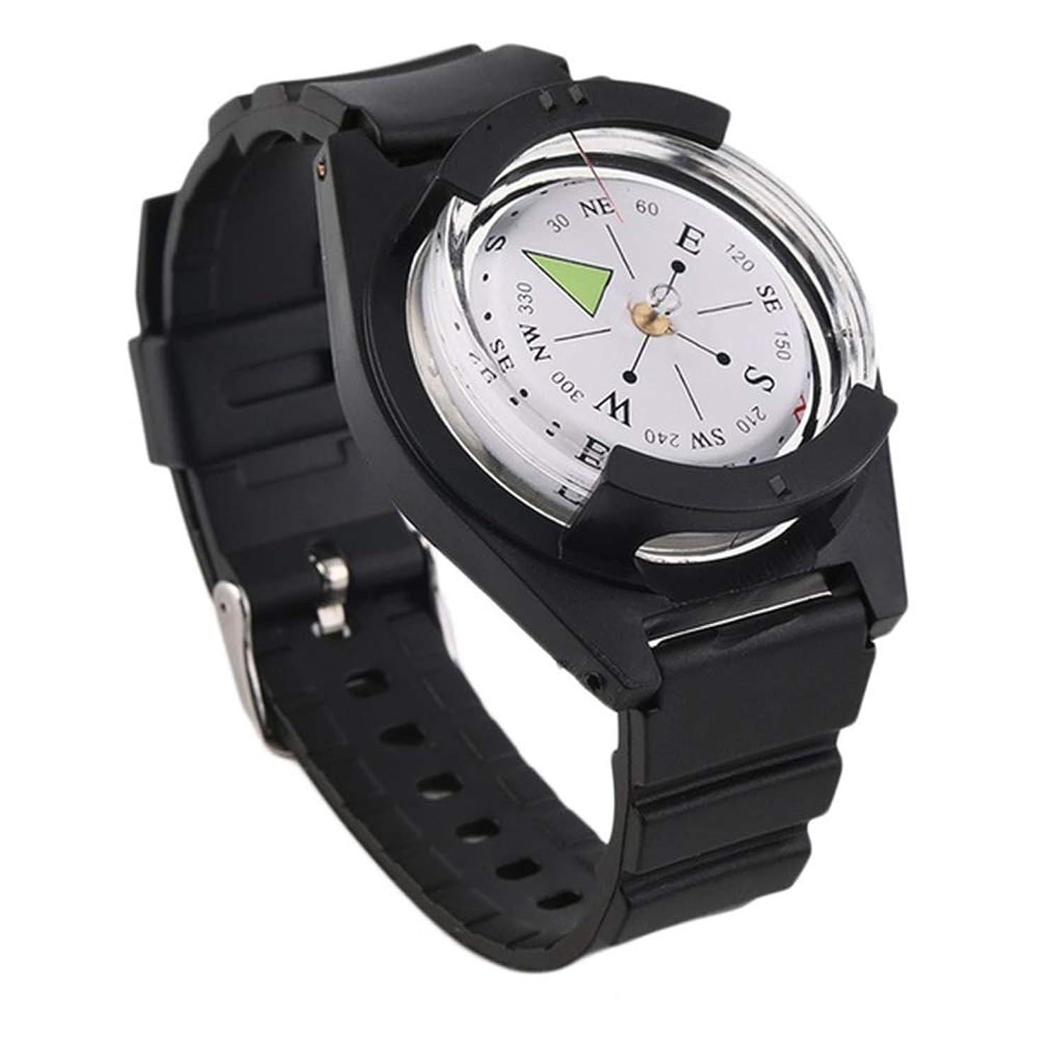 取り替える指令宿るKBAYBO コンパス 腕時計式 方位磁石 方位磁針 携帯コンパス 羅針盤 ナビゲーションコンパス オイルコンパス 方向指示 高精度 防水型リストコンパス アウトドア 登山 防災 ハイキング用