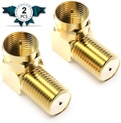 Conector coaxial, Adaptador de Ángulo Sat 90° Grados para Cable Coaxial 7mm...