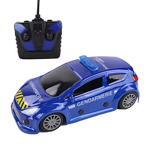 Turbo Caballenge Coche Gendarmero-Licencia Oficial Azul-099207-Coche teledirigido - Frecuencia 27 MHz - Listo para enrollar - Escala 1/24 Pilas no Incluidas, a Partir de 6 años, 99207, Azul