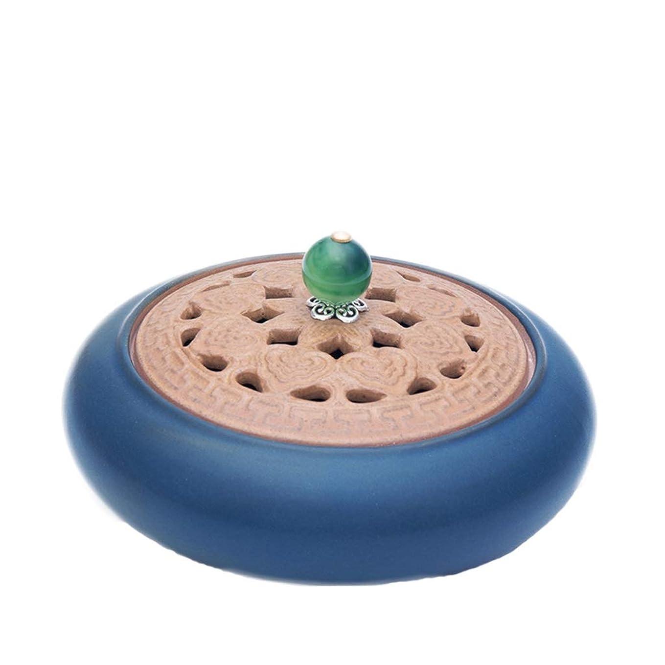 パイロット平衡葉を集める芳香器?アロマバーナー アンティークセラミック小さな香バーナーホームインドアガーウッドハース香純粋な銅白檀炉アロマテラピー炉 アロマバーナー (Color : Green)