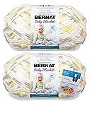 Bernat Baby Blanket Yarn - Big Ball (10.5 Oz) - Chicks & Bunnies - 2-Pack Bundle with Bella's Crafts Stitch Markers