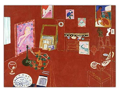 H/E Simple Francés Henri Matisse Art Poster Pintura Al Óleo Paisaje Nostálgico Retro DIY Hogar Sala De Estar Bar Café Mural Decorativo Sin Marco 50X60Cm W7884