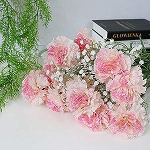 Baby Fan Carnation Silk Flower Bride Hydrangea Home Mother's Day Teacher's Day Born Mother