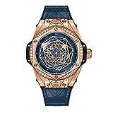 Hublot Limited Edition Sang Bleu One Click Gold Blue Diamonds Watch 465.OS.7189.VR.1204.MXM19