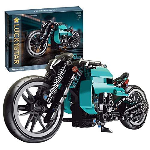 CYGG Kit de construcción de Motos Technic, 431 + PCS Bloques de construcción de Motocicletas Modelo de Pantalla Superbike para Adultos, niños compatibles con Lego