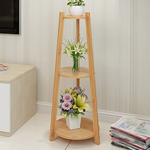 XIAOLIN- Multifonctions en bois massif en bois racks Étagère anti-corrosion multicouche fleur étagère salon chambre balcon vert plantes pots racks -Cadre de finition de fleurs (taille : 22 * 97cm)