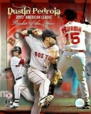 Dustin Pedroia Boston Red Sox MLB 8x10 Photograph 2007 AL Rookie of the Year