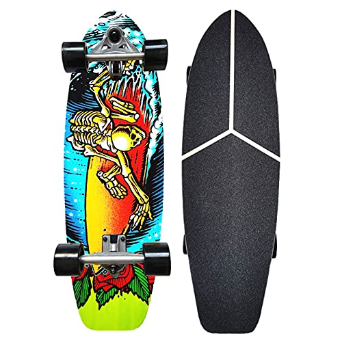 Carver Skateboards for Professional Pumping CX7 Cruiser Surfskate Adults Maple Wood Beginners Fancy Board, Complete 75×23cm Complete Surf Longboard, ABEC-9 Bearings