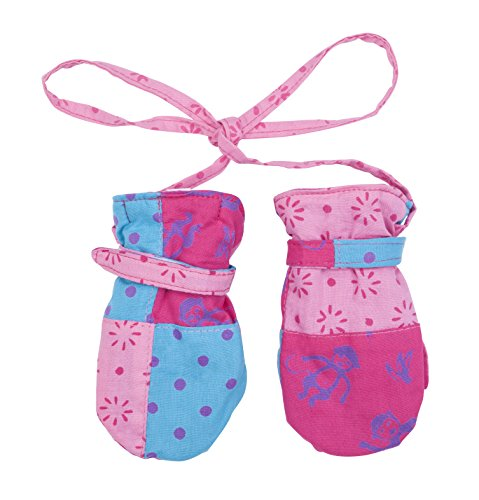 Shu-Shi Baby Toddler Girl Mittens Soft Warm Fleece Interior and String Attached