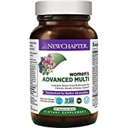 New Chapter Women's Multivitamin + Immune Support, Women's Advanced Multi (Formerly Every Woman) Fermented with Whole-Foods & Probiotics + Iron + Vitamin D3-120 ct (Packaging May Vary)