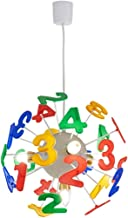 Mopoq Children Chandeliers With Numbers & Alphabet - 4 Lights Kids Enlightenment Education, Eco-Friendly Material, For Stu...