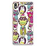 dakanna Funda Compatible con [ Bq Aquaris X5 ] de Silicona Flexible, Dibujo Diseño [ Patrón Animales buhos Multicolor ], Color [Borde Transparente] Carcasa Case Cover de Gel TPU para Smartphone