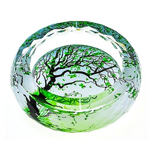 cendrier KKY-Enter Luxe Cristal Verre 3D Vert Arbre Motif De Mode Creative Personnalité Cadeau Boutique Accueil Salon Bureau Hôtel Club, donnant aux Fumeurs