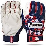 Franklin Sports MLB Digitek Baseball Batting Gloves - White/Navy/Red Digi - Adult Medium
