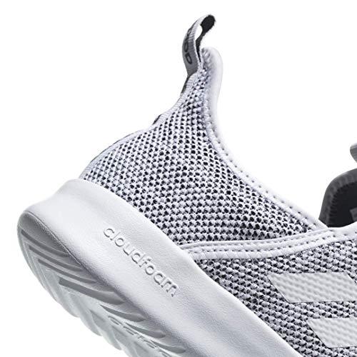 adidas Performance Women's Cloudfoam Pure Running Shoe, White/White/Black, 7.5 M US