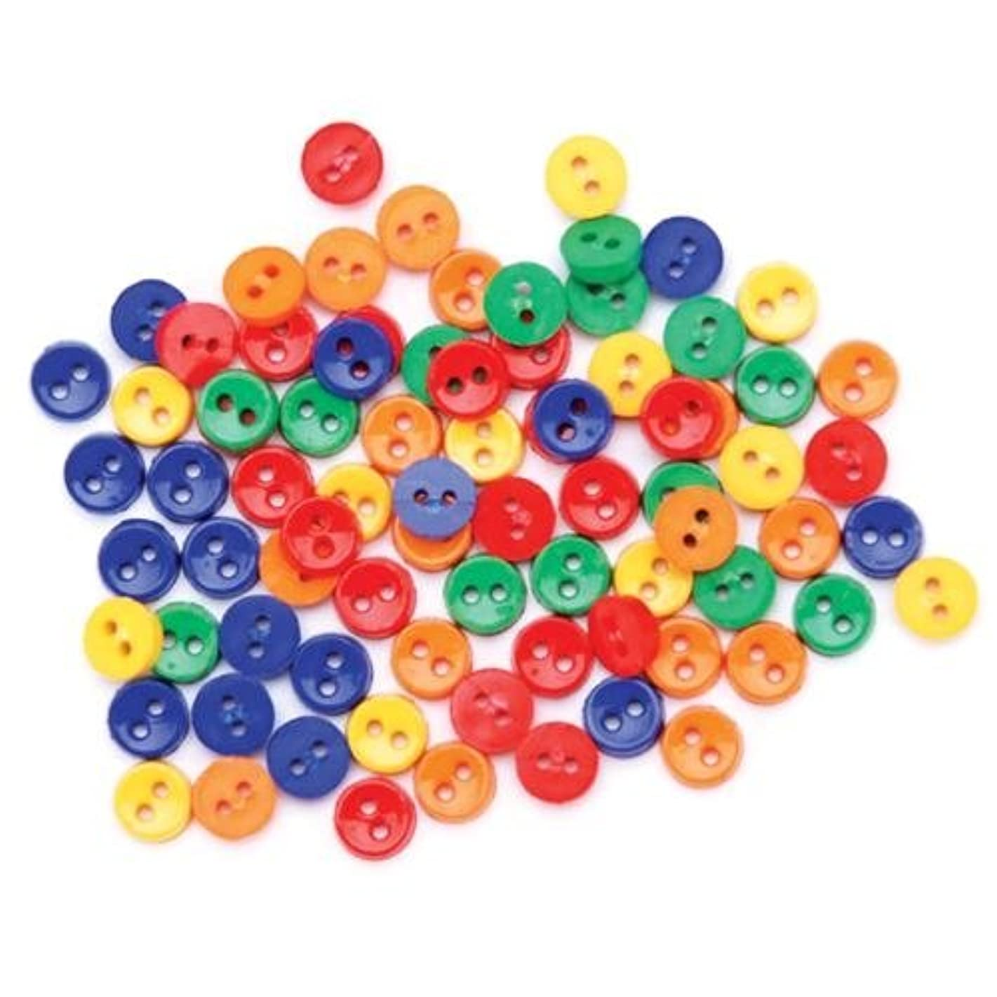 Blumenthal Lansing Favorite Findings Basic Mini Buttons, 75/Pkg, Primary