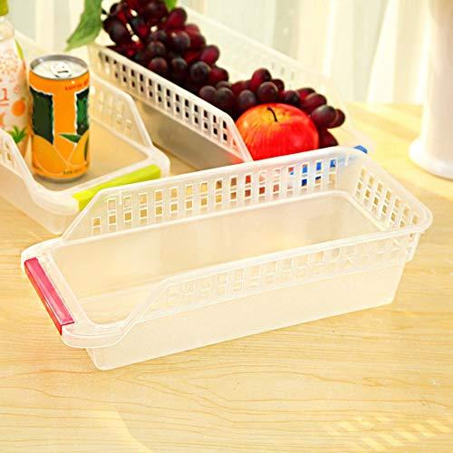 Freezer Refrigerator Organizer Trays Bins Pantry Cabinet Storage Box Fridge Fruits Vegetables Containers Storage Baskets - Random Color