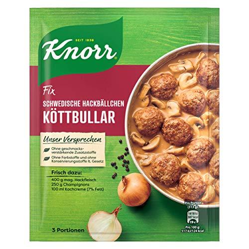Knorr Fix Schwedische Hackbällchen Köttbular 3 Portionen, 1er Pack (1 x 49 g)